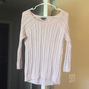 Light Pink Cable Sweater